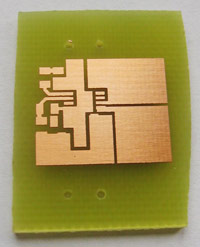 Etched and drilled PCB
