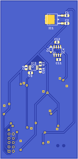 Bottom PCB layout
