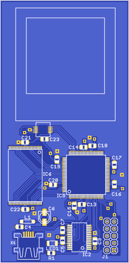 Top PCB layout
