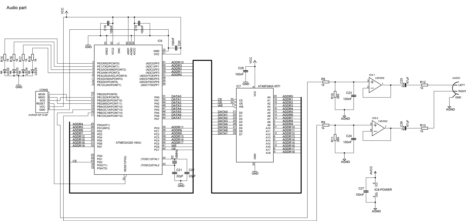 Audio part schematic