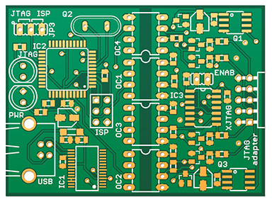Photoshop PCB rendering