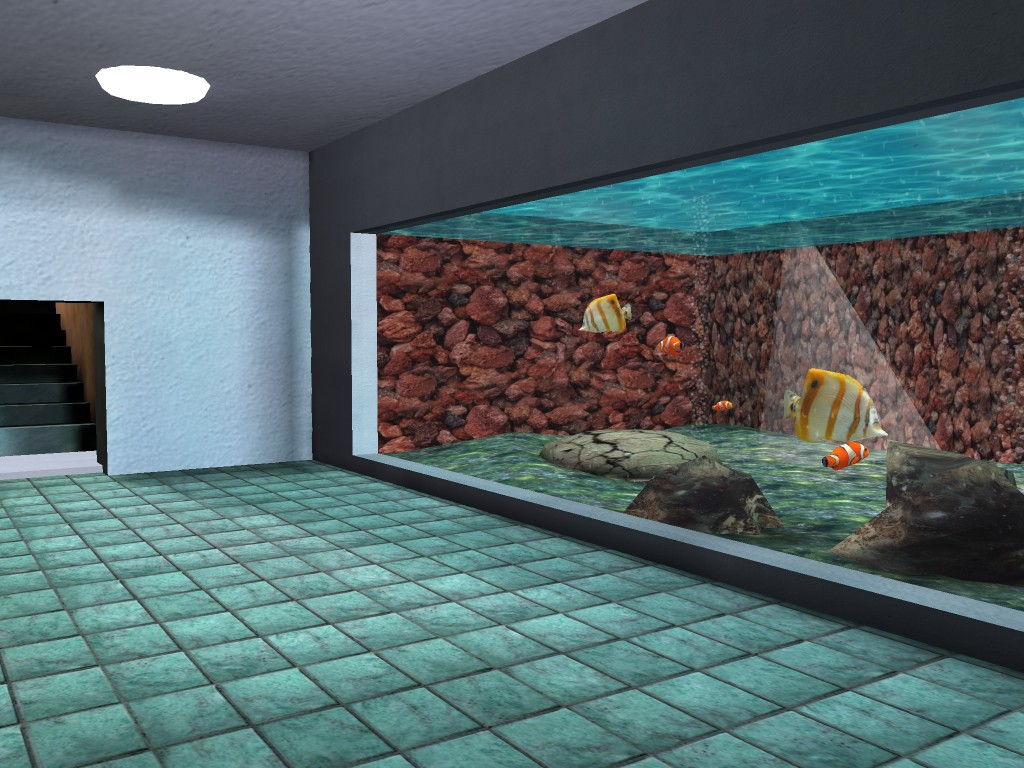 CG zoo aquarium side view screenshot
